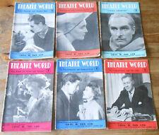 More details for large quantity 52x theatre world magazine 1950 - 1954 vintage