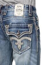 New NWT Mens Rock Revival Denim Jeans Tucker Bootcut 30x34 Long