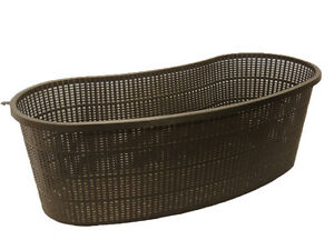 "Contour, Kidney Shaped 18"" Aquatic Pond Plant Basket Planting Pot Slotted Mesh"