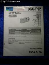 Sony Service Manual DSC P92 Level 2 Digital Still Camera (#6238)