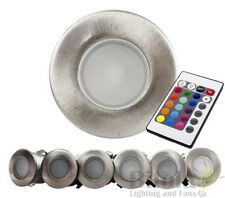 HAVIT HV2822 6 PACK COLOUR CHANGING 316 STAINLESS STEEL LED DECK LIGHTS RGB DIY