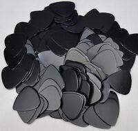 Lots of 100 pcs New Medium 0.71mm Blank Guitar Picks Celluloid Solid Black