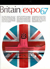 EXPO 67 Britain Booklet Montreal 1967 Exposition