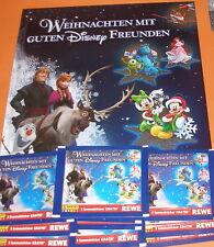 """Sammelalbum v. Rewe / Panini """"Weihnachten mit guten Disney Freunden"""" + 10 Tüten!"""