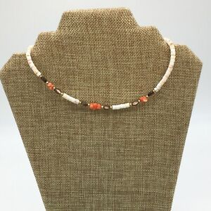 Surfer Mens Beach Faux Coral Shell Necklace