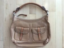 TUMI Beige Leather Handbag (Like New)