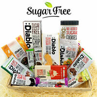 Diablo Diabetic Sugar Free Gift Hamper Box Sweets Gummy Cookies Bar Bars Snack