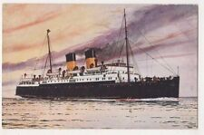 S.S. Isle of Jersey, Bannister Shipping Art Postcard, Us006
