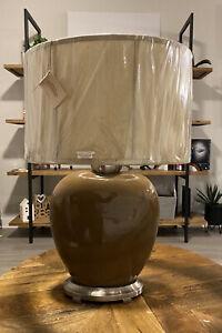 Uttermost Brown Crackled Sebastian Table Lamp
