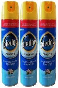 "(Pack of 3) PLEDGE ""Clean It"" MULTI-SURFACE POLISH SPRAY 250ML - JASMINE"