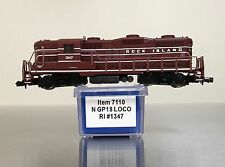 ~Nos Life Like 7110 Rock Island Gp18 Diesel Train Gp 18 Locomotive #1347 N Scale