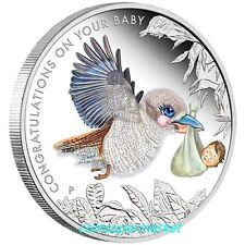Australia 2017 Newborn Baby 1/2oz Silver Proof 50 Cents Coin Colorized Gift!