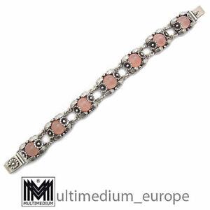 N.E. Nils Erik From Denmark Armband Silber Modernist Rosenquarz silver bracelet