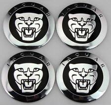 NEW JAGUAR BLACK WHEEL HUB CAPS LOGO SET OF 4 RIMS CAP C2D9611 / C2Z4438