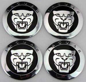 NEW JAGUAR BLACK WHEEL HUB CAPS LOGO SET OF 4 RIMS CAPS C2D9611 / C2Z4438