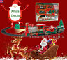 Christmas Train Set Track Gift Musical Sound Lights Around Tree Decoration Santa