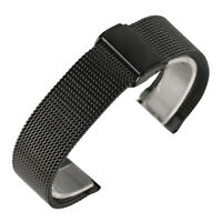 18mm/20mm/22mm Black Silver Mesh Stainless Steel Wrist Watch Strap for Huawei