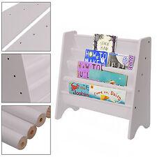Quality Children's Sling Bookcase in White -Book Storage for Children's Room UK