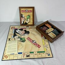 Monopoly Board Game Collection Wooden Bookshelf Wood Box 100% Complete