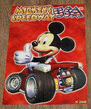 2000 Mickey's Speedway USA / Pokemon 2 rare Poster 56x40cm Nintendo 64 Game Boy