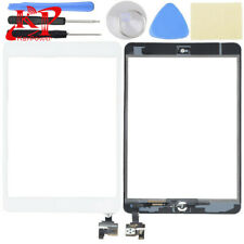 New iPad Mini 1 2 Touch Screen Glass Digitizer Replacement+ IC+Home Button White