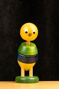 """pre-World War II WOODEN FIGURINE TOY """"Made in Germany"""" moving parts"""