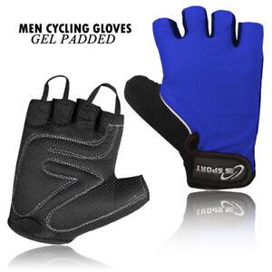 3S Mens Fingerless Cycling Gloves Half Finger Foam Padded Sports Bike Sports New
