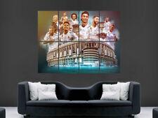 Cartel de Real Madrid de Ronaldo al Ramos Kroos FC Estadio Santiago Bernabeu