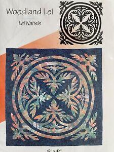 Pacific Rim Quilt Company, Woodland Lei Hawaiian quilt pattern. Uncut.
