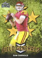 2018 Leaf Draft Field Generals Gold #FG-09 Sam Darnold USC