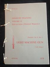 BREN GUN LMG LIGHT MACHINE GUN 7.62 PAMPHLET MANUAL  NORTHERN IRELAND FALKLANDS