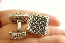 Men's Jewelry Cuff Links 925 Sterling Silver Shirt Tux Cufflinks