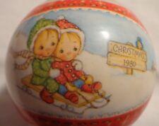 Hallmark Betsey Clark Christmas Ornament 1980 Round Glass Ball Joy In The Air