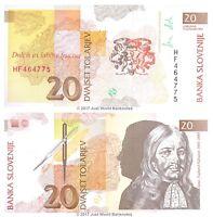 Slovenia 20 Tolarjev 1992 P-12 Banknotes UNC