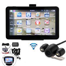 """GPS per Auto 7"""" 4gb Navigazione SAT Nav BLUETOOTH AV-in videocamera wireless + Retromarcia + Sensore"""