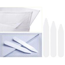 200Pcs Plastic Shirt Collar Stiffeners White Collar Stays Bones with 3 Sizes