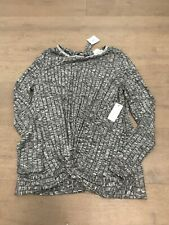 Stitch and Knot Womens Grey Sweater Small Studded Collar New with Tags