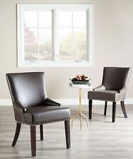 Safavieh Vitange Piper Dining Chair Wood Set of 2, Clay Grey
