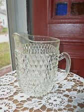 GORGEOUS EAPG GLASS PITCHER, RAISED DIAMOND PATTERN,FINE CONDITION, ALMOST 5 LBS