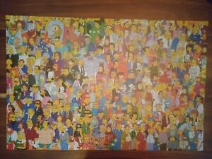 The Simpsons The Cast Jigsaw Puzzle 1000 piece complete 2006 Challenging & Fun