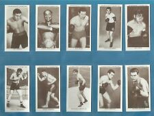 Churchman cigarette cards - BOXING PERSONALITIES - Full mint condition set.