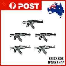 CUSTOM Bricks AKM minifigure Assault Rifles 5PCS Toy blocks Minifigures A13