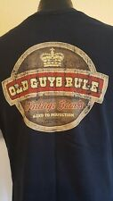 Old Guys Rule Men'S Black T-Shirt 100% Cotton Size L (16)