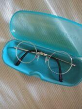circle lense silver glasses