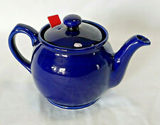 """Chatsford Teapot Blue 4.5"""" tall England with Infuser 2 Cups"""