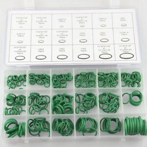 270Pcs Air Conditioning Assortment O-Rings Seal Ring Air Con For Car Green Dg