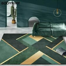2020 Luxurious dark green jade carpet geometric white carpet living room bedroom