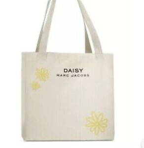 MARC JACOBS Daisy Beige/Tan Canvas Tote/Reusable/Shopping/Carrying Bag - New