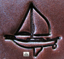 """Discontinued 1997 Craftool Co. USA Sail Boat 1"""" Leather Stamp Tool 8519"""
