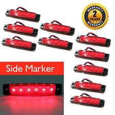 10PCS 24v 6LED Side Marker Light for Truck Trailer Indicator Signal Lamp Red